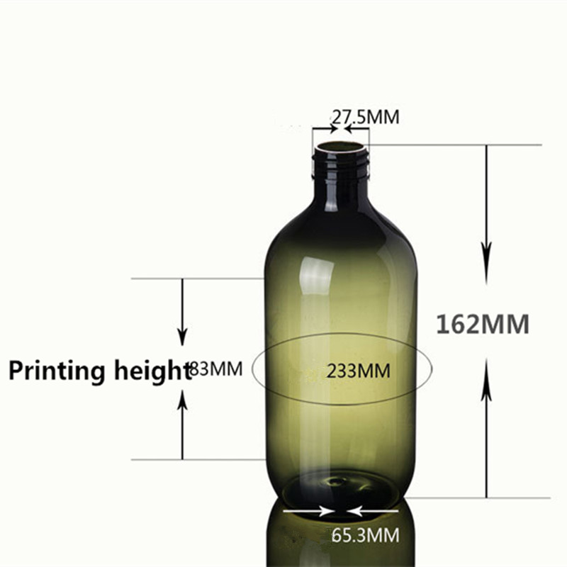 Image 5 - 2ps 300ml 500ml Plastic Lotion Bottles with  Lotion Pump for Shampoo, Personal care,Lotion Refillable Boston Bottles Home Reuse-in Refillable Bottles from Beauty & Health