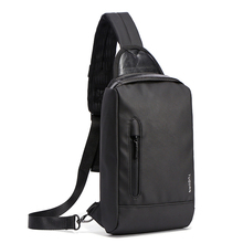 Men Black Shoulder Messenger Bag Outdoor Casual Cycling Sports Bag Fashion Waterproof Men Chest Bag