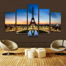 Canvas Picture Paris Eiffel Tower painting on canvas wall picture art print (No frame) Home Home Decoration Wall Art