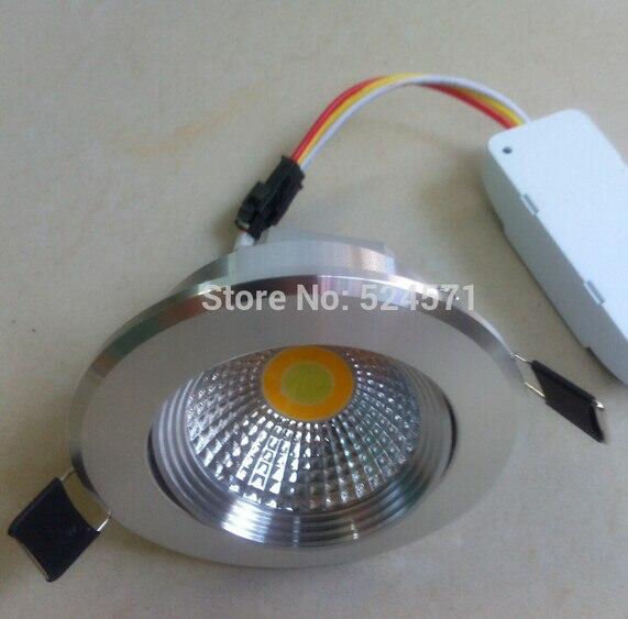 COB Led down light 9w <font><b>Can</b></font> change 3 temperature( cool /white/ warm white)cob led ceiling light ,led <font><b>recessed</b></font> light,AC85-260V