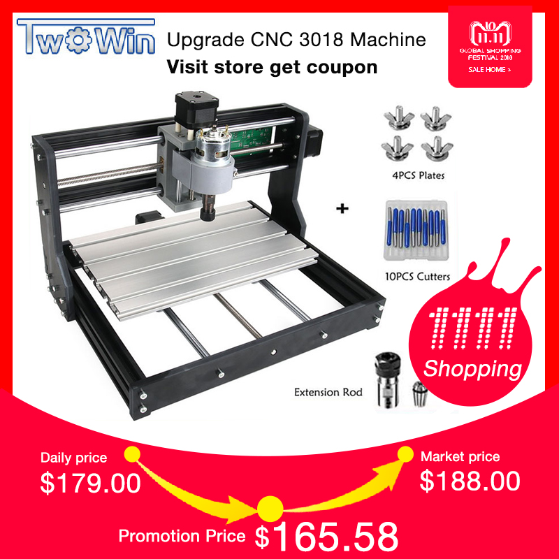 New CNC 3018 Pro GRBL Control Diy mini cnc Machine,3 Axis pcb Milling Machine,Wood Router Laser Engraving with Offline cnc 3040 cnc router cnc machine 3 4 5 axis mini engraving machine woodworking tools diy hy 3040 high quality metal acrylic