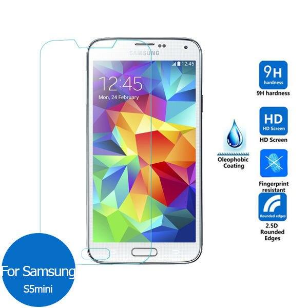 Pour Samsung Galaxy S5 mini en verre Trempé Écran Protecteur 9 h Sécurité De Protection Film sur S 5 S5mini SM G800 g800F G 800F