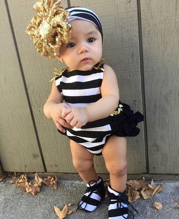 Детская одежда для новорожденных девочек полоса Летний комбинезон женский пляжный костюм комплект одежды в полоску для малышей Обувь для д...