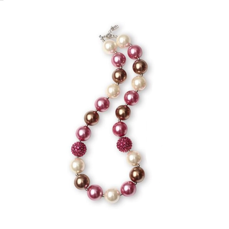 Ladies Chunky Necklaces Bubblegum Party Pop Noble Sparkly Dress Accessories Beaded Chain Women Simulated Pearls Necklace
