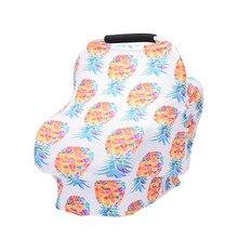 Чехол для кормления, шарф для мамы, дышащий, для новорожденного, для кормления, детское автомобильное кресло, навес, цветочный принт, корзина для покупок, чехол для младенцев