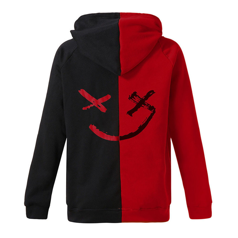 Smeiling Womens Long Sleeve Printed Slim Hooded Sweatshirt Pullover with Button