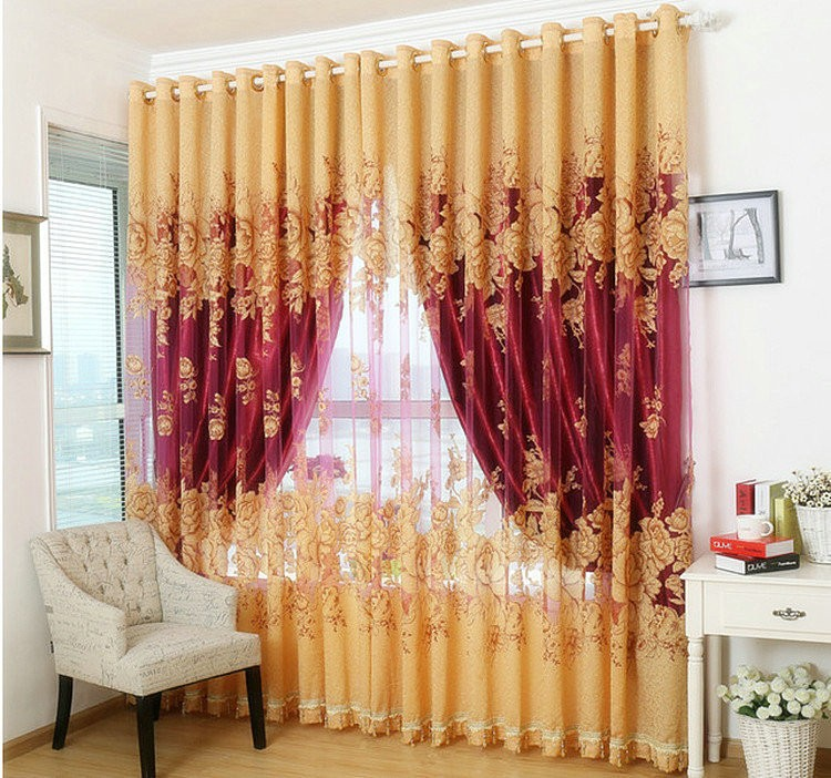 Window Curtain For Living Room/Bedrooms /Hotel 100% Blackout ...