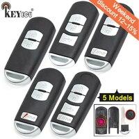 KEYECU для Mazda 3 6 CX-3 CX-5 Замена 2/3/2 + 1/4 кнопки смарт-пульт дистанционного управления автомобильный ключ чехол для ключей красный держать с необра...