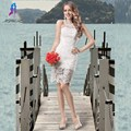 New Ivory Lace Short Cocktail Dresses Evening Party Gown Strap Back Formal Women Dress