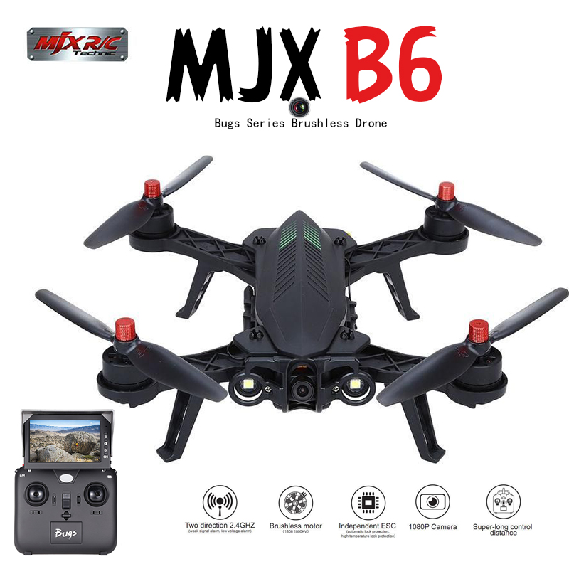 MJX B6 Bugs 6 RC Quadrocopter Drone with 1600kv Brushless motor HD Wifi Camera real-time transmission 14 min flying time 20KM/H mjx c4020 720p wifi camera rc drone hd camera for mjx bugs 3 b3 bugs 6 b6 rc helicopter quadcopter camera spare parts
