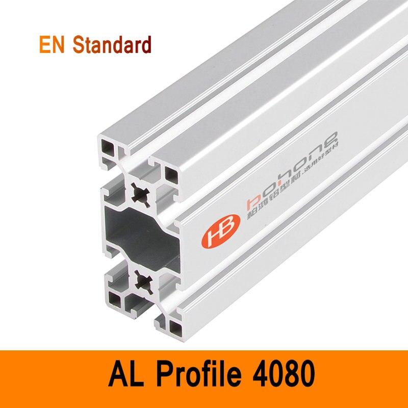 4080 Aluminium profilé EN Standard bricolage supports Aluminium AL Extrusion Style CNC 3D bricolage imprimante etabli Construction CE ISO