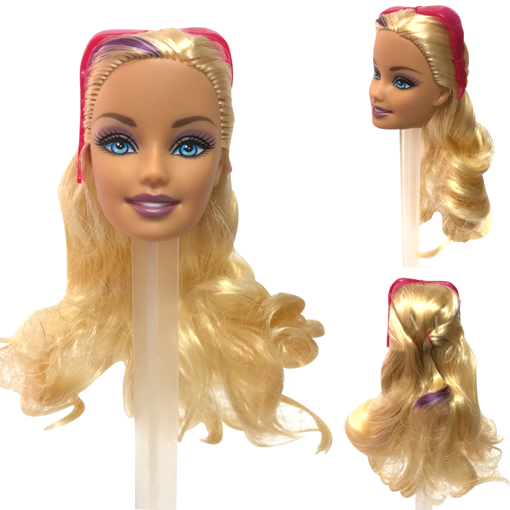 NK One Pcs Doll Head With One Pcs Fashion  Glasses  For 1/6 Doll Accessories  Best DIY Gift For Girls'  Doll 01B  5X
