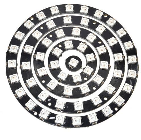 5pcs/set 1/8/12/16/24 Bit WS2812 5050 RGB LED Intelligent Full-color Drive RGB Lamp Ring Development Board