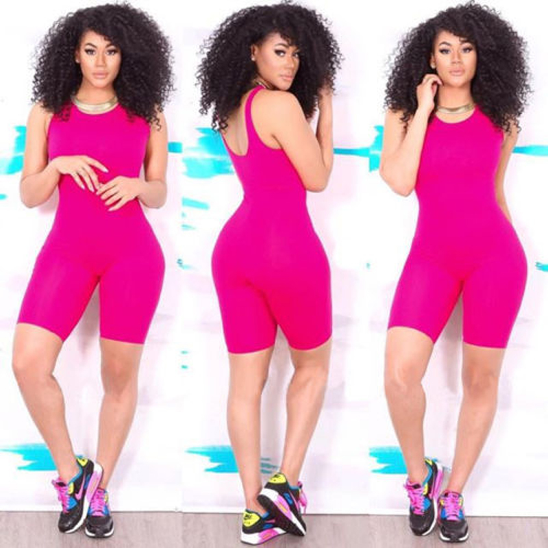 Sexy Women Casual Sleeveless Bodycon Romper Jumpsuit Club Bodysuit Short Pants
