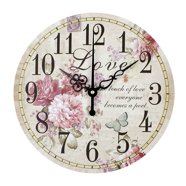 Home decoration large wall clocks silent wall clock vintage home decor fashion big flowers wall watches relojes decoracion pared
