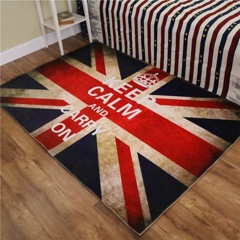 British Union Jack Flag Lunmi Living Room Coffee Table Bedroom Carpet  Computer Chair Mat Soft Entrance