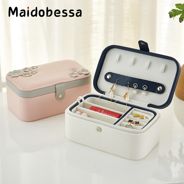 Maidobessa Creative Jewelry Box Portable Travel Jewelry Organizer PU
