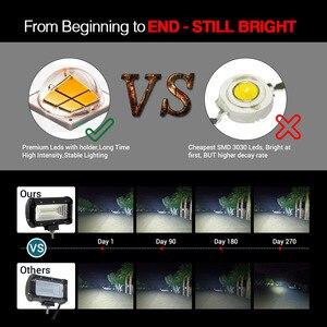 Image 3 - A luz do trabalho do diodo emissor de luz do co 72w 5 polegada 8000lm conduziu a barra clara para o recolhimento do carro offroad lada 4x4 uaz atv que conduz a luz 12v 24v