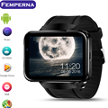 Nova lem4 watch phone bluetooth wifi android smart watch com 2.2 polegada de tela grande smartwatch suport whatsapp facebook google map