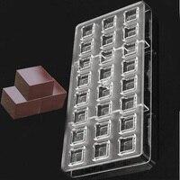 24 DIY 3D Polikarbonat Çikolata Kalıp Plastik Temizle Buz Jelly Candy Kalıp PC Küp Şeffaf Tepsi Pişirme Aracı 275*135*22mm