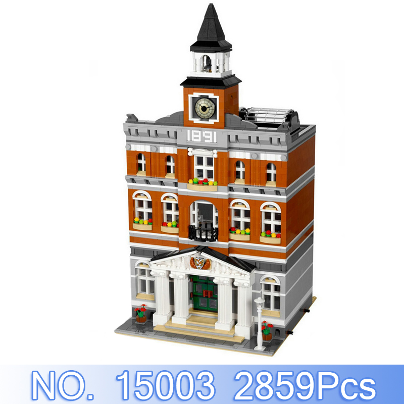 Lepin 15003 City Creator Figures 2859Pcs The Topwn Hall Model Building Kits Blocks Bricks Set Toys For Children Compatible 10224