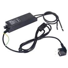 מתכוונן ניאון שנאי אספקת חשמל 8KV 220 v 30mA עם דימר ניאון נטל האיחוד האירופי Plug