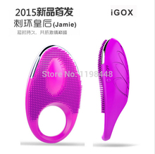 USB Rechargeable Vibrating Cock Ring Penis Sleeves Silicone cockring mens penis rings extender Sex Products Sex Toys for Couples