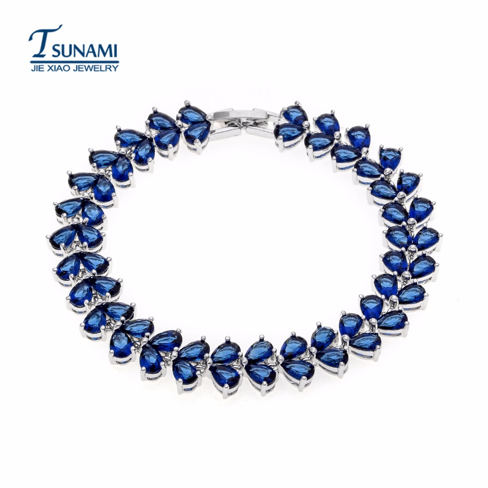 Famous brand four colors of the water of zircon bracelet A gift for a female wedding party SL-005