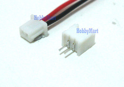 Mini. JST Connector plug 1.25 2-Pin with Wire x 10 sets mini micro jst 2 0mm t 1 6 pin connector w wire x 10 sets 6pin 2 0mm