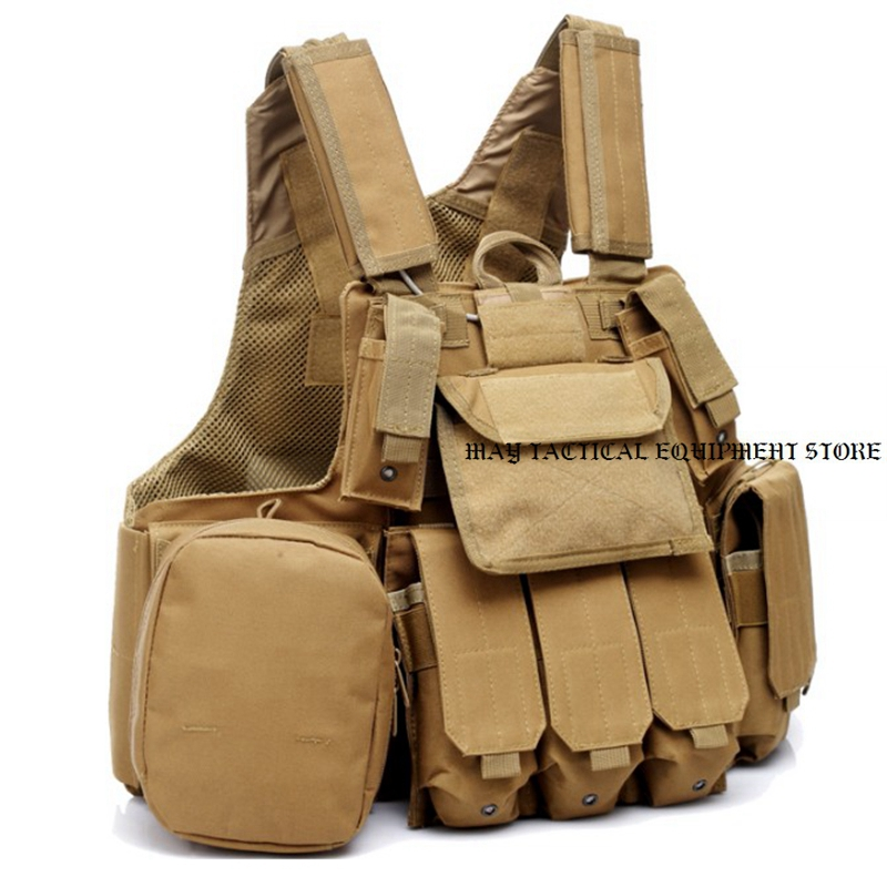 Hunting Tactical Molle Vest Outdoor Sports Wargames Airsoft Paintball Combat Vest airsoft adults cs field game skeleton warrior skull paintball mask