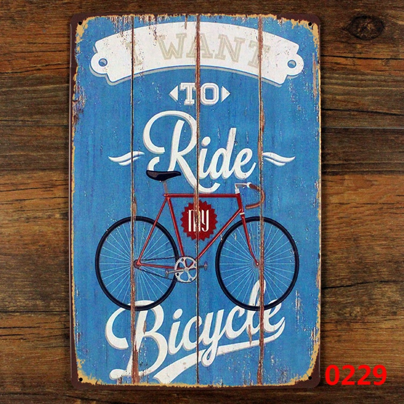 Retro bicycle metal painting home decor - I want to ride my bicycle vintage metal tin sign