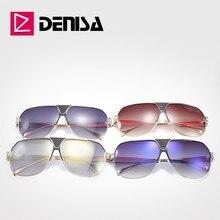 DENISA Luxury Big Sunglasses Women Mirror Man Sunglasses Bra