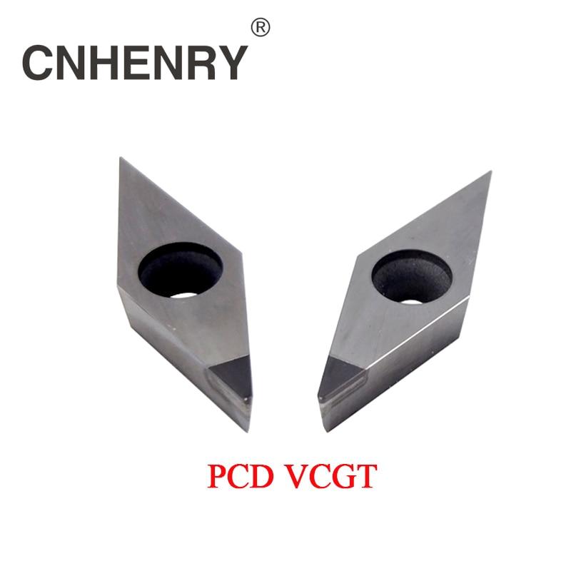 цены 2 PCS PCD Turning Inserts VCGT110301/02/04/08 CNC PCD Diamond Inserts Carbide Milling Inserts CNC Inserts