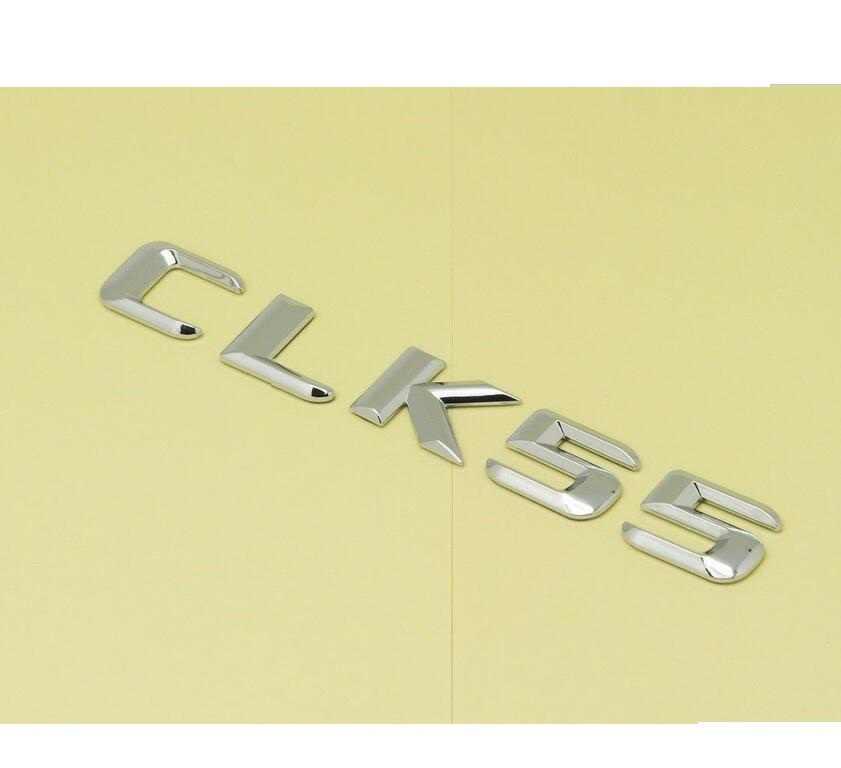Хром 3D ABS пластиковый автомобильный багажник задние слова из букв Эмблема Наклейка для Mercedes Benz CLK класс CLK55 AMG