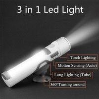 LumiParty חיישן נייד פנס חירום פנס מנורת קיר מנורות לילה Motion חישה בטיחות אלחוטי סוללה מופעל