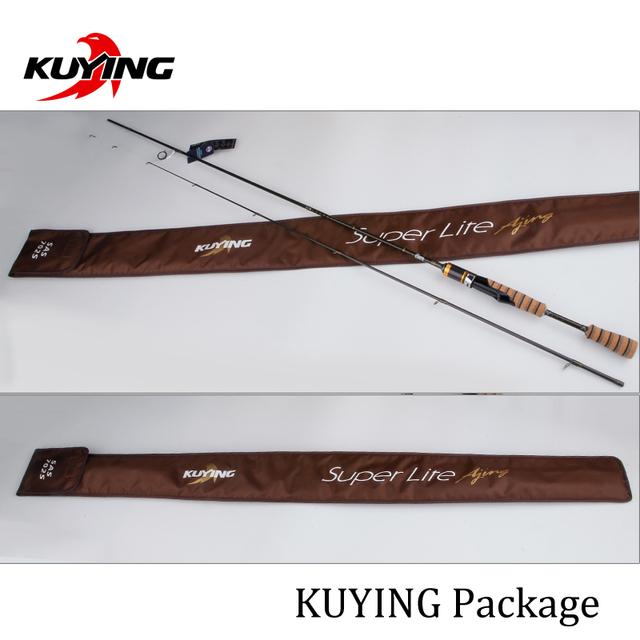 KUYING SuperLite 2.1 2.28 2.58m Lure Carbon Casting Spinning Fishing Rod FUJI Part Medium Fast Action Bottom Fish Stick Pole