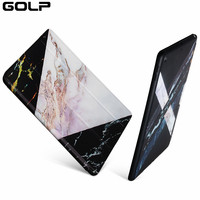 Case For IPad 9 7 2017 GOLP Marble Pattern PU Leather Smart Cover For IPad New