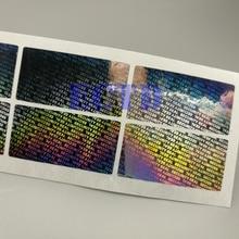 """1000 holograma a prueba de manipulaciones, etiqueta de garantía vacía, pegatina de seguridad de 1,57*0,79"""""""