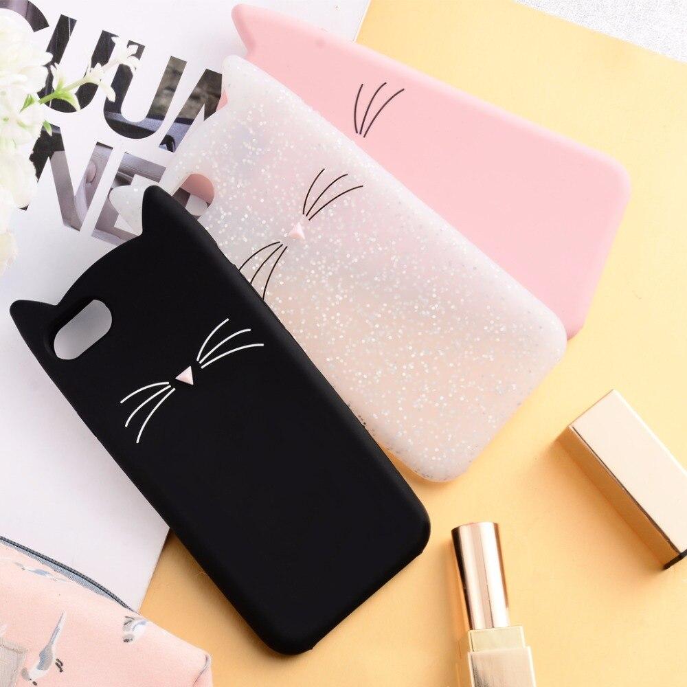 Ollivan For iphone 8 8plus 7 7plus 3D Cute Moustache Cat ear TPU phone cases for iphone 6 6s plus silicone cover 5 5s SE case