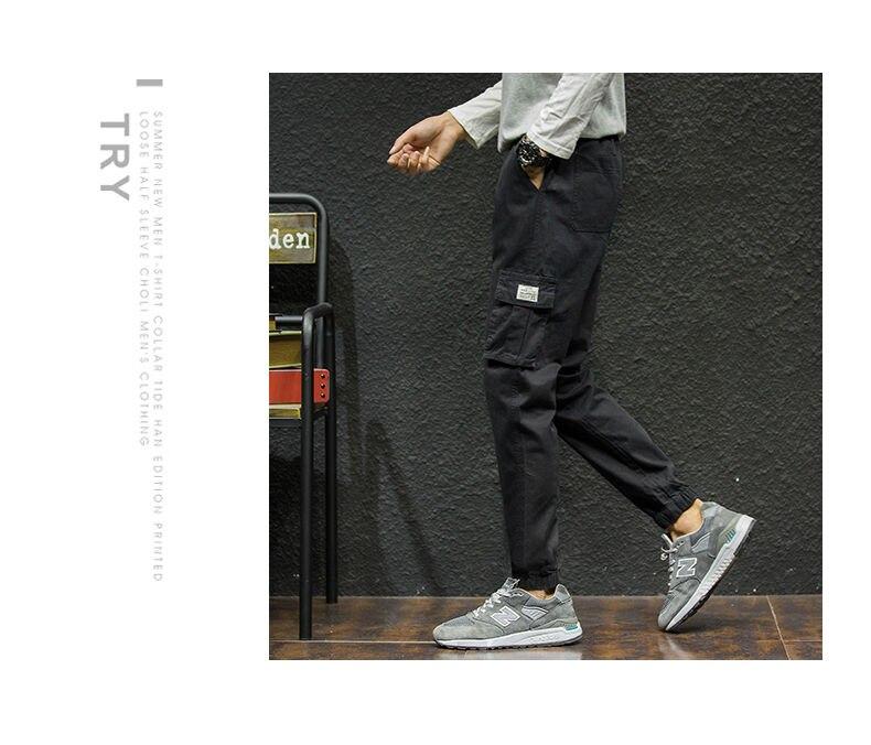 7XL Cargo Pants Men Quality Cotton Pencil Pants Male Washed Slim Fit Pants Mens Trousers Korean Brand MuLS Plus Size Casual Pant 10