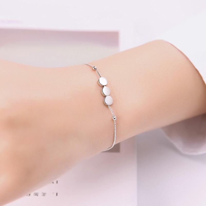 2018 New Arrival 925 Sterling Silver Women Bracelets Trendy Bracelet Silver 925 Fine Jewelry Femme SHB410