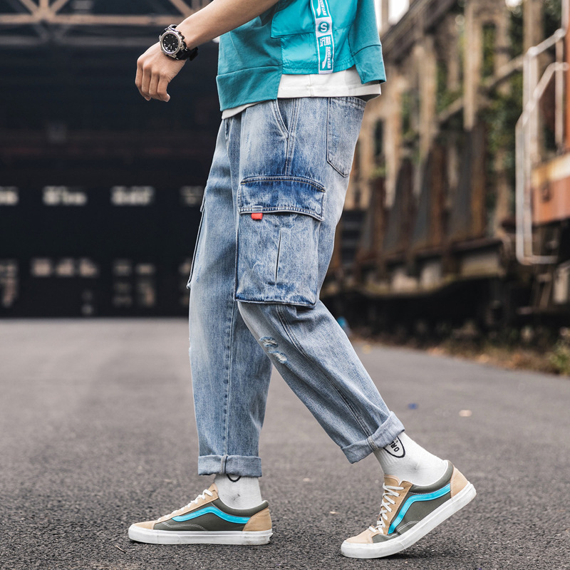 Pants Men Rushed Straight 2019 New Camouflage Street Harem Fitness Runners Trousers Ankle Length Sweatpants Ankle-length Cotton