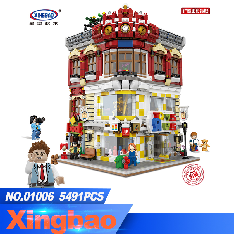 XingBao 01006 Block 5491Pcs Genuine Creative MOC City Series The Toys and Bookstore Set Building Blocks