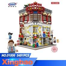 XingBao 01006 блок 5491 шт. подлинной творческой MOC город серии игрушки и книжный магазин набор строительных блоков Кирпичи игрушки модель подарок