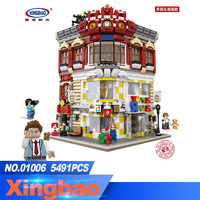 XingBao 01006 Block 5491Pcs Genuine Creative MOC City Series The Toys and Bookstore Set Building Blocks Bricks Toy Model Gift