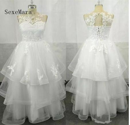 High Qulaity Organza   Flower     Girl     Dress   for Wedding Tiered Lace Up Keyhole Back Kids Prom   Dress   Any Size and Any Color New Style