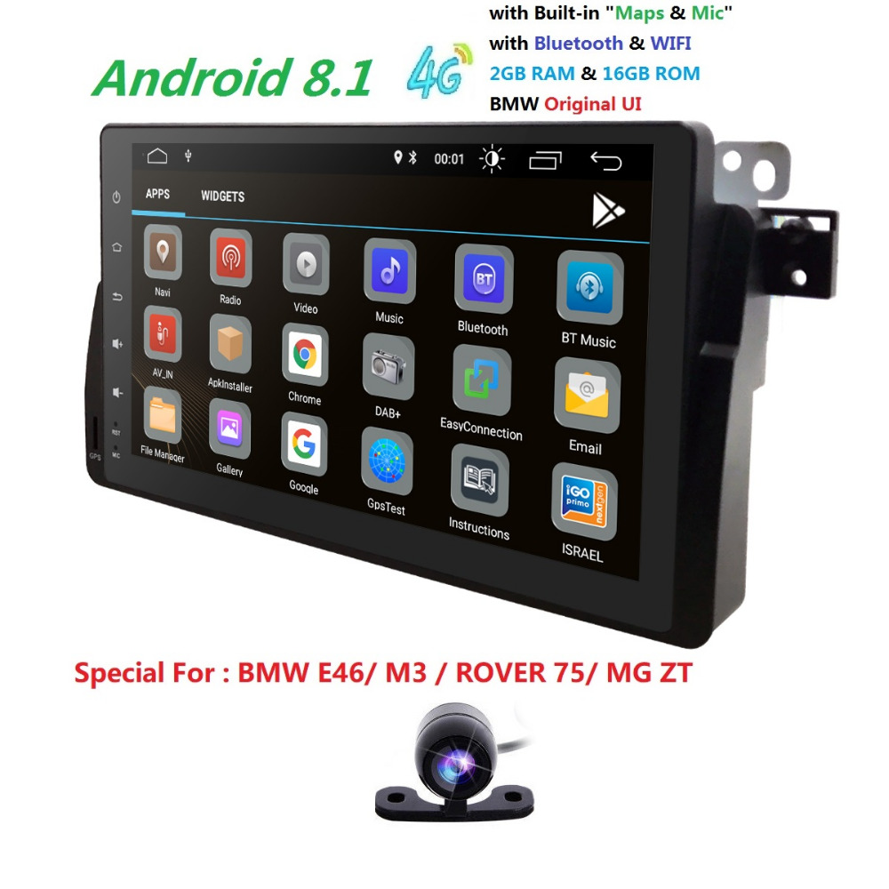 92+16Android8.1 4QuadCore IPS Touch screen Car GPS  Autoaudio Radio Player for BMW 3 Series E46/M3/USB/4GWIFI/SD/DVR/DAB/Camera92+16Android8.1 4QuadCore IPS Touch screen Car GPS  Autoaudio Radio Player for BMW 3 Series E46/M3/USB/4GWIFI/SD/DVR/DAB/Camera