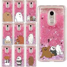 Liquid Water Case voor Samsung Galaxy Note 3 4 5 8 9 M10 M20 C5 C7 C9 Pro C8 Cartoon blote Bears Panda Soft Cover Telefoon Gevallen(China)