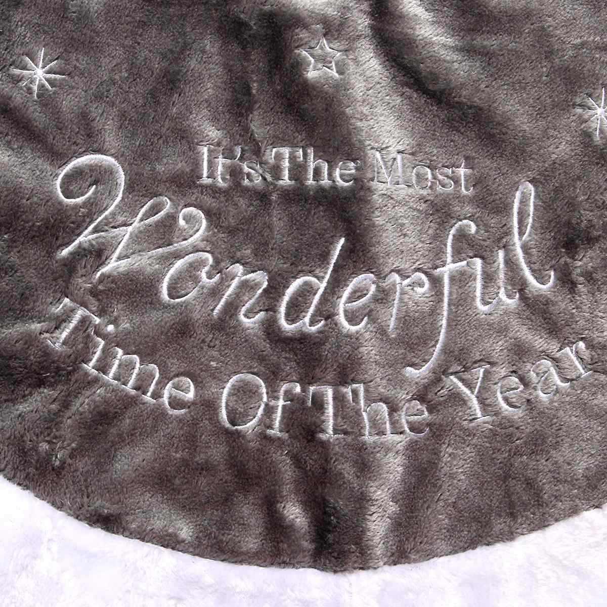 90 см серебряная Рождественская елка юбка фартук ручной массажер украшения плюшевая основа подушка для пола праздничные вечерние принадлежности