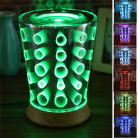 100ML LED Night Lights Ultrasonic Aromatherapy Essential Oil Diffuser Home Humidifier 3D Effect Ultra Quiet Portable